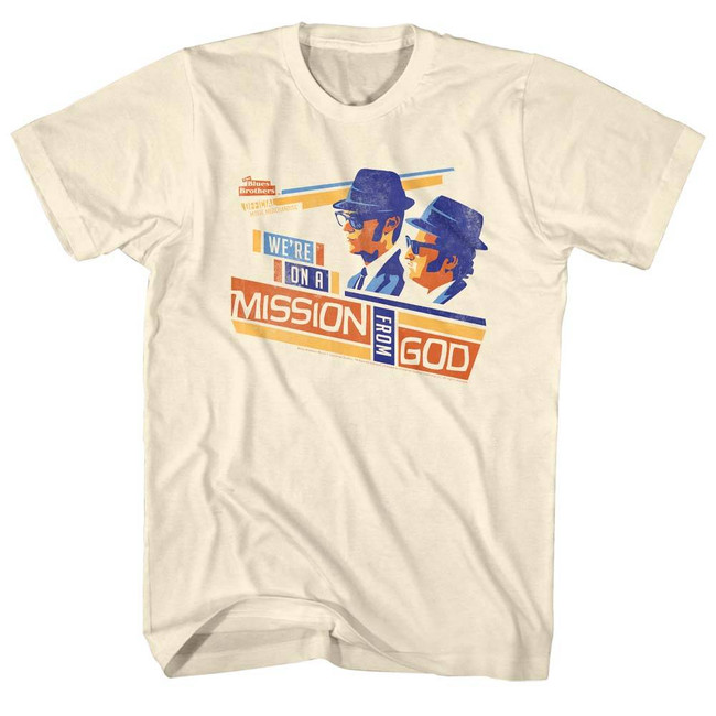 Blues Brothers Mission Boxes Natural Adult T-Shirt