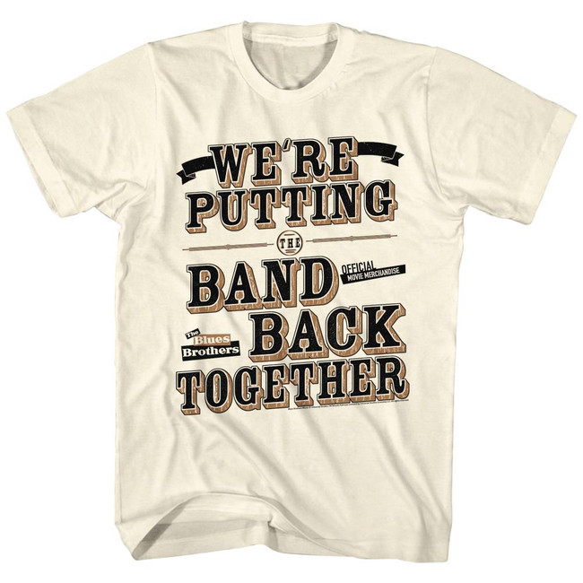 Blues Brothers Band Back Natural Adult T-Shirt