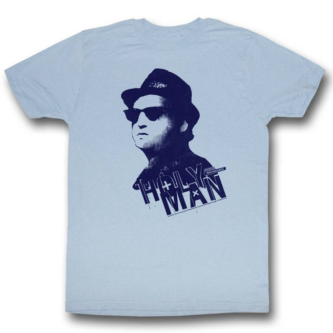 Blues Brothers Holy Man Light Blue Adult T-Shirt