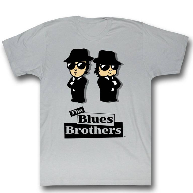 Blues Brothers Blue Avatars Silver Adult T-Shirt