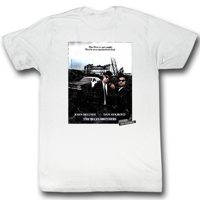 Blues Brothers Poster White Adult T-Shirt
