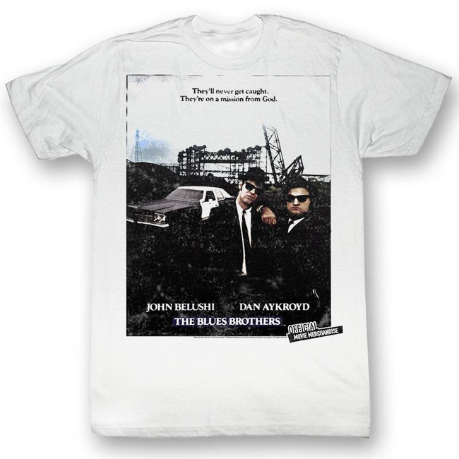 Blues Brothers Blue Sunshine White Adult T-Shirt