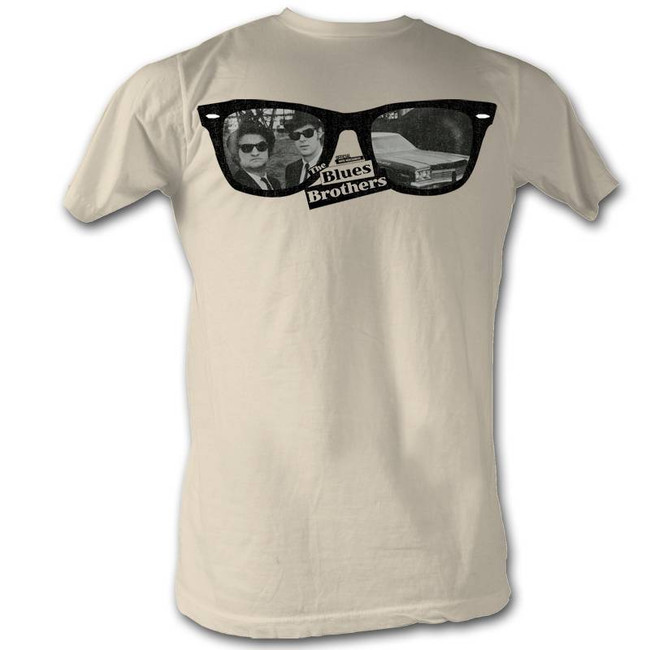 Blues Brothers Glasses Natural Adult T-Shirt