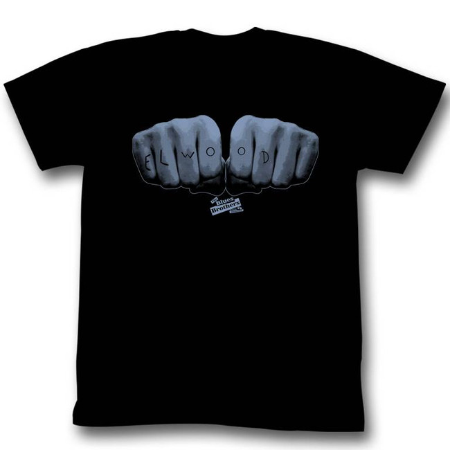 Blues Brothers Elwood Hands Black Adult T-Shirt