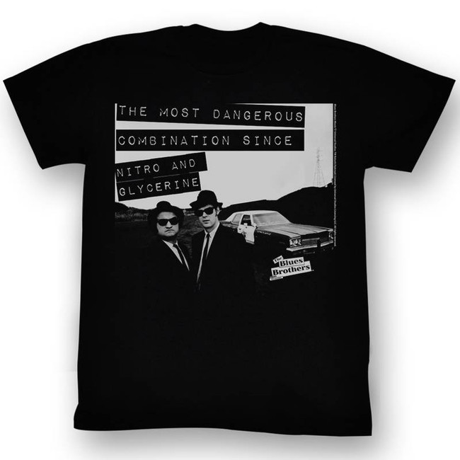 Blues Brothers Danger Black Adult T-Shirt