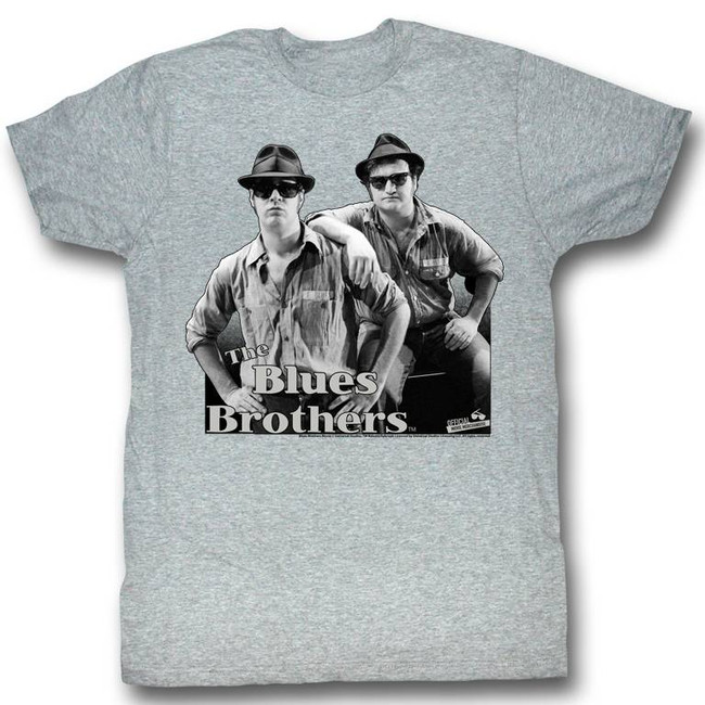 Blues Brothers Heather Grey Adult T-Shirt