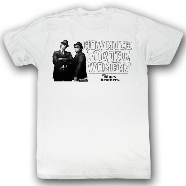 Blues Brothers How Much White Adult T-Shirt