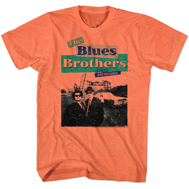 Blues Brothers Orange Heather Adult T-Shirt