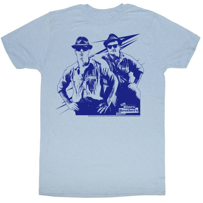 Blues Brothers Make It Rain Light Blue Adult T-Shirt