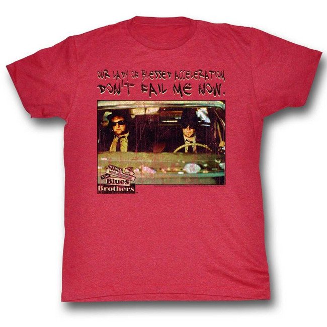 Blues Brothers Our Lady Cherry Heather Adult T-Shirt