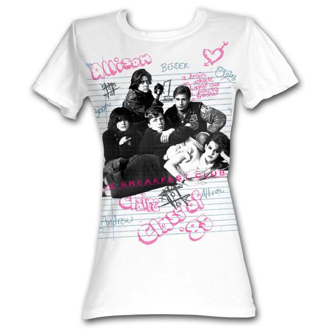 Breakfast Club Group White Junior Women's T-Shirt