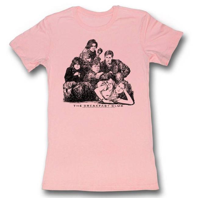 Breakfast Club Group Light Pink Junior Women's T-Shirt