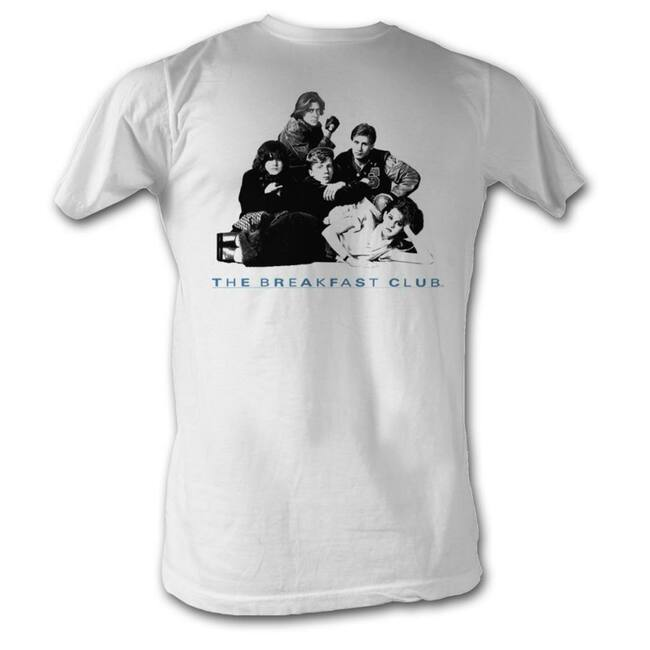 Breakfast Club Group Black and White Adult T-Shirt
