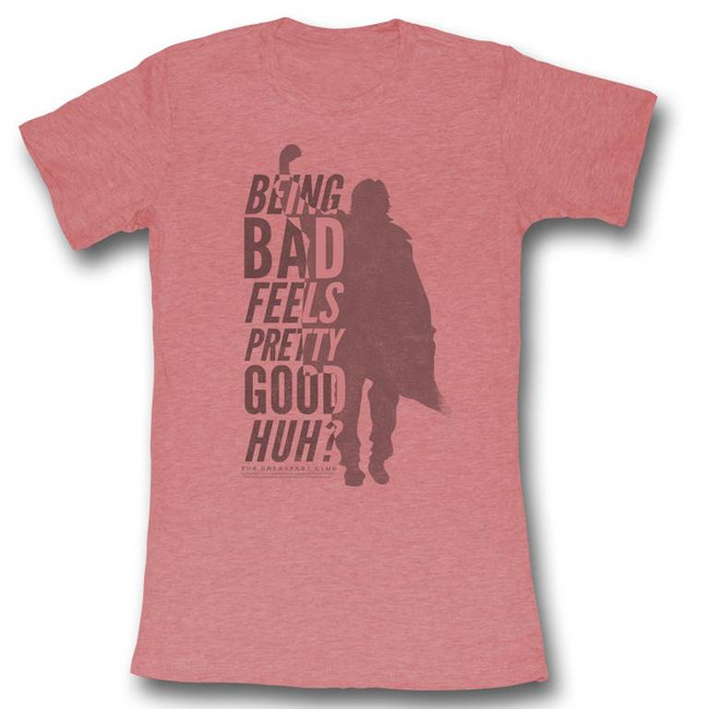 Breakfast Club Be Bad Light Pink Junior Women's T-Shirt
