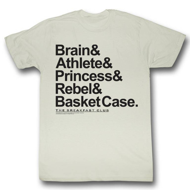 Breakfast Club New Names Natural Adult T-Shirt
