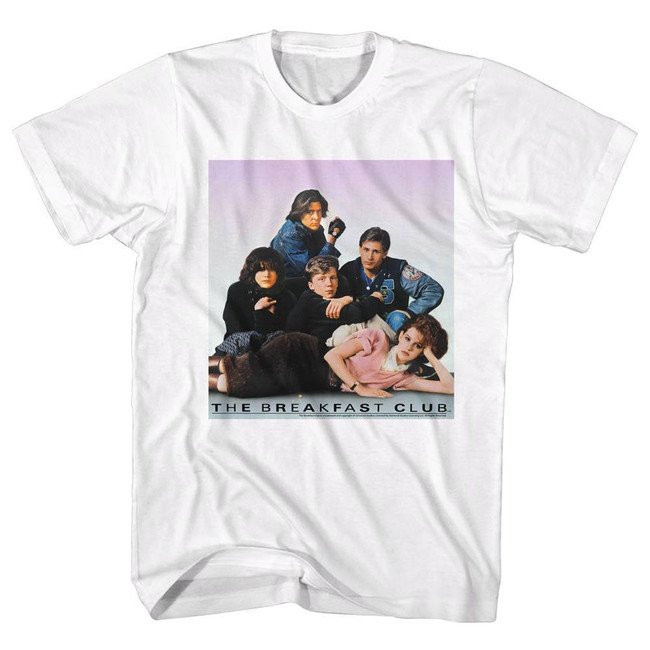 Breakfast Club Group Picture White Adult T-Shirt