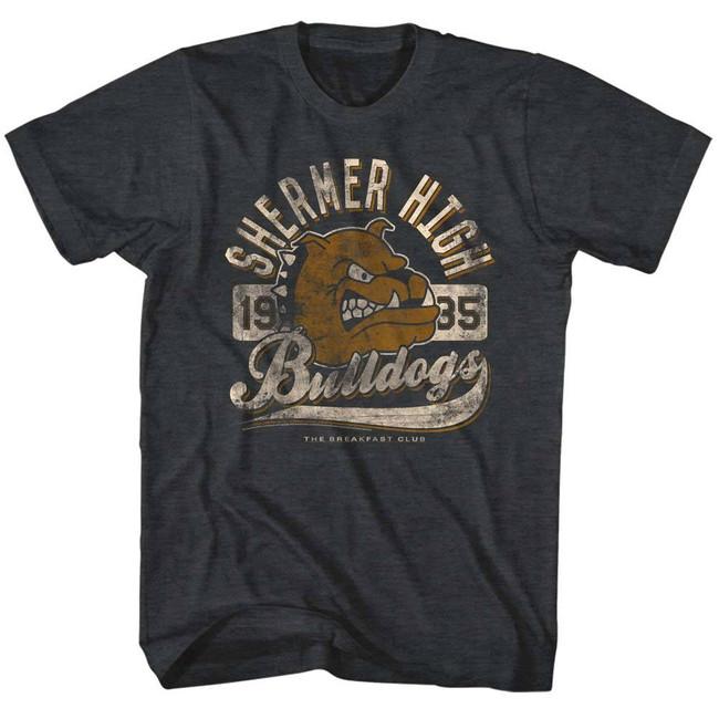 Breakfast Club Bulldog Black Heather Adult T-Shirt