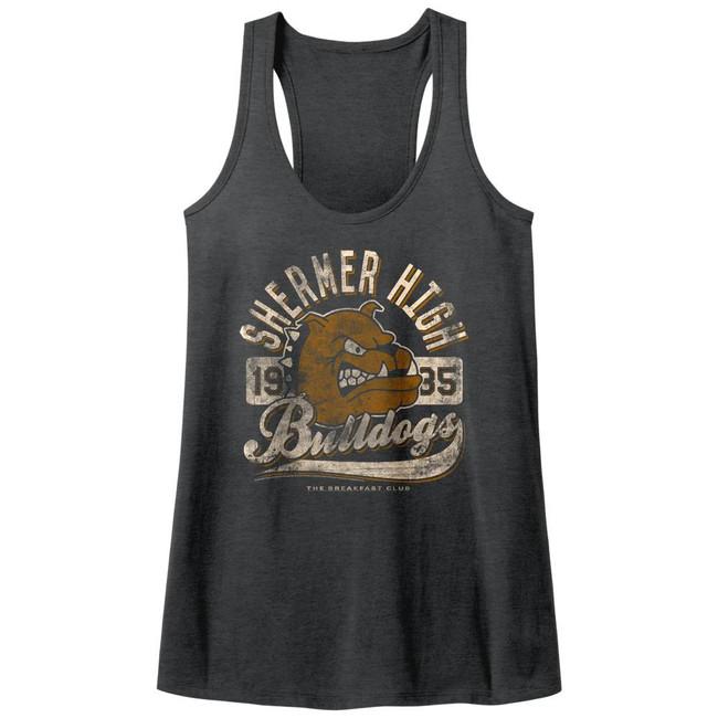 Breakfast Club Bulldogs Dark Gray Junior Women's Racerback Tank Top T-Shirt