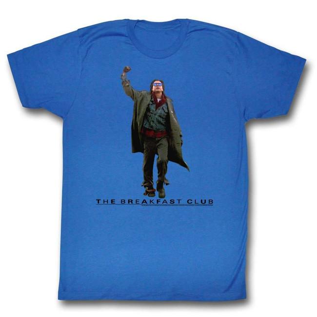 Breakfast Club Fist Pump Cutout Royal Adult T-Shirt