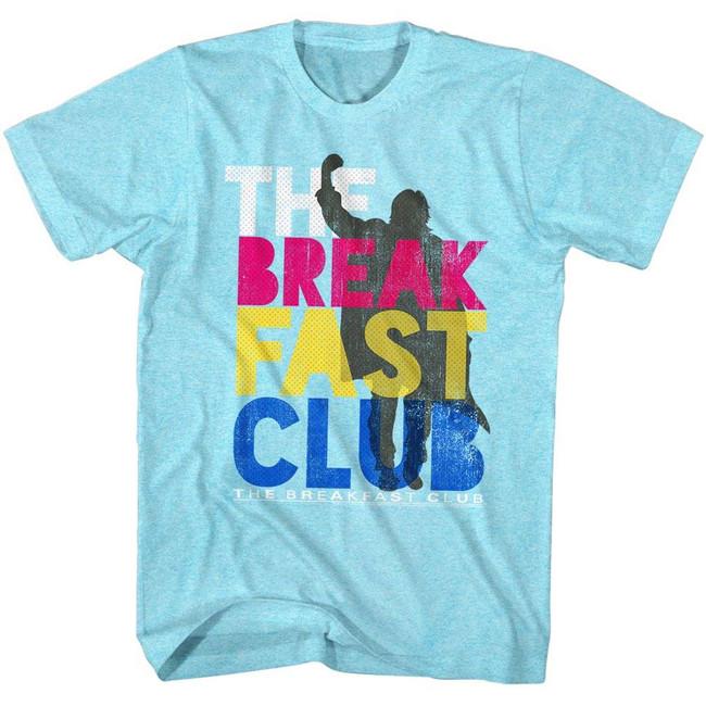 Breakfast Club Color Light Blue Heather Adult T-Shirt