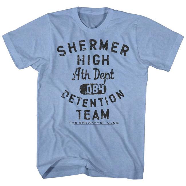 Breakfast Club Detention Team Light Blue Heather Adult T-Shirt