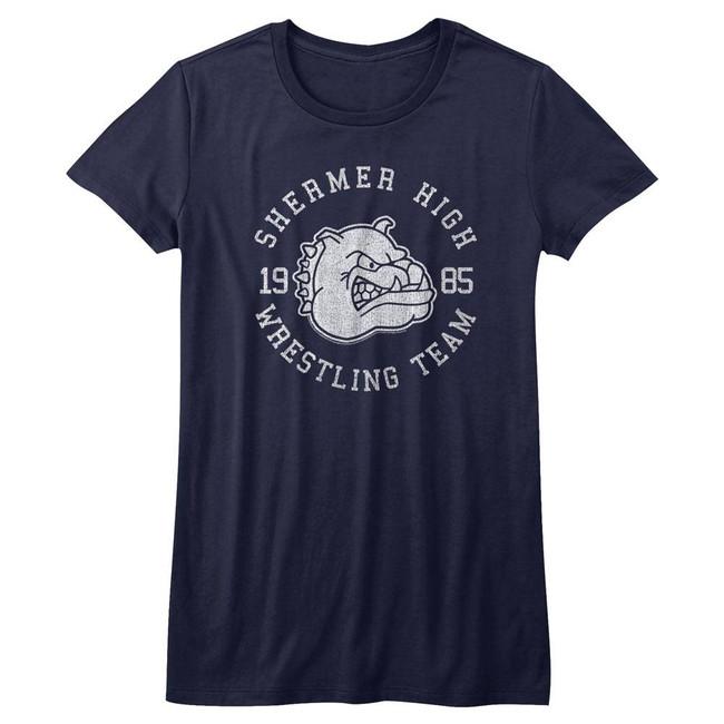 Breakfast Club Wrestling Team Navy Heather Junior Women's T-Shirt