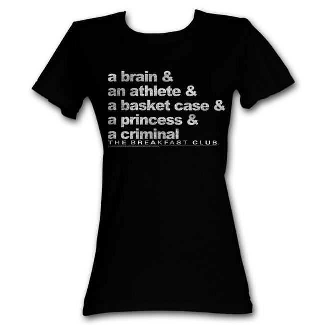 Breakfast Club Word Up Black Junior Women's T-Shirt