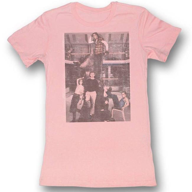 Breakfast Club Hanging Out Light Pink Junior Women's T-Shirt