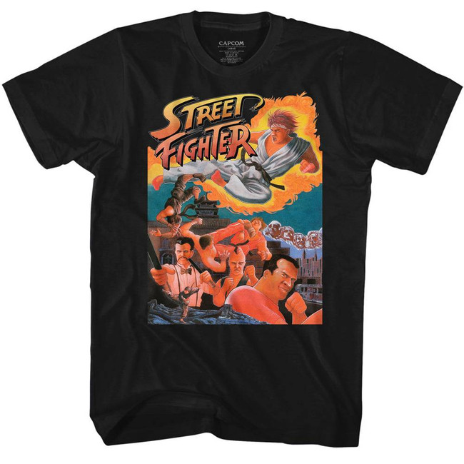 Street Fighter Awesome Black Adult T-Shirt