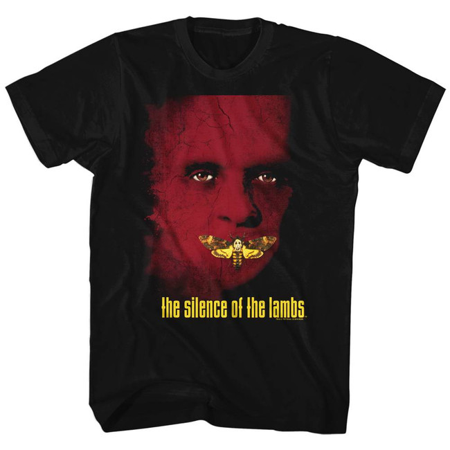 Silence of the Lambs Poster Black Adult T-Shirt