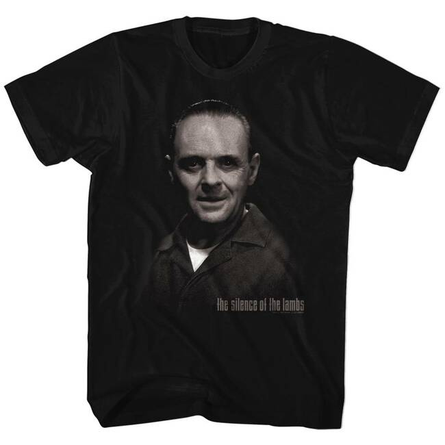 Silence of the Lambs H. Lecter Black Adult T-Shirt