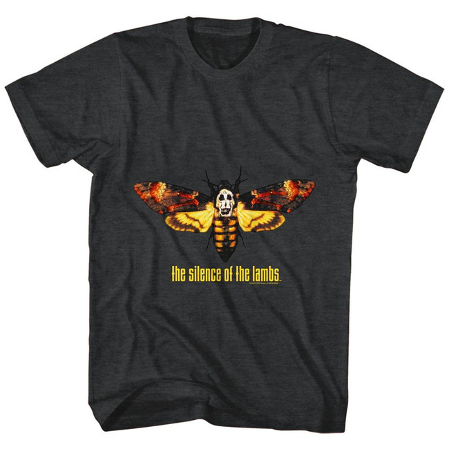 Silence of the Lambs Moth Black Heather Adult T-Shirt
