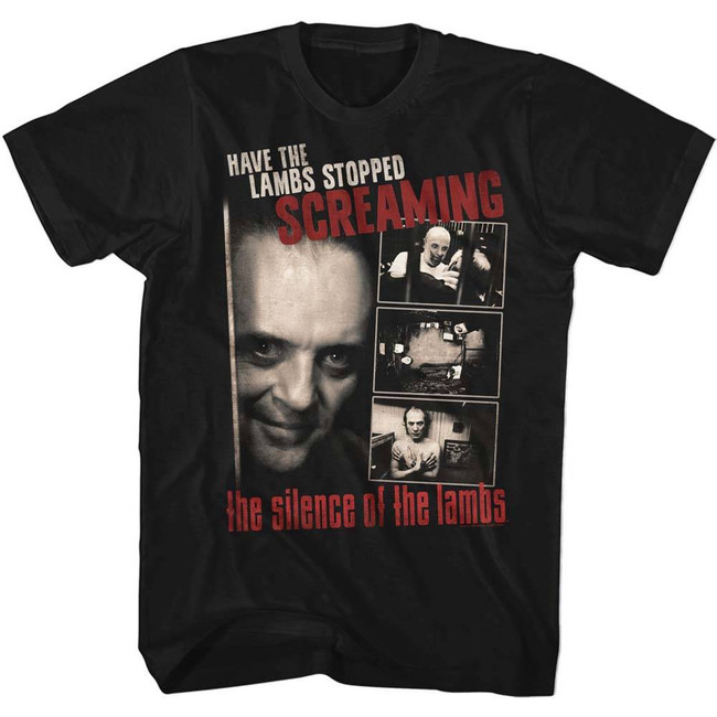 Silence of the Lambs Screaming Black Adult T-Shirt