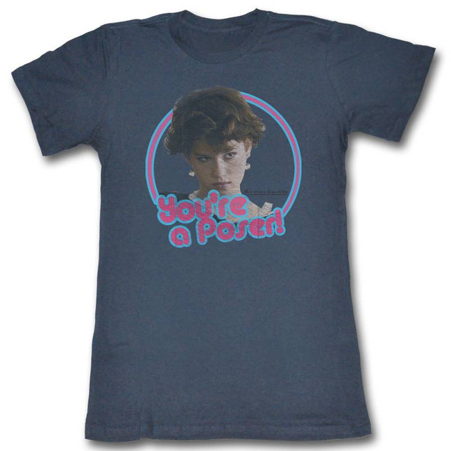 Sixteen Candles You're A Poser Indigo Junior Women's T-Shirt