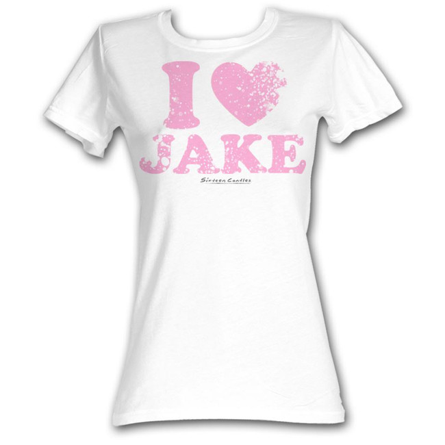 Sixteen Candles I Heart Jake White Junior Women's T-Shirt