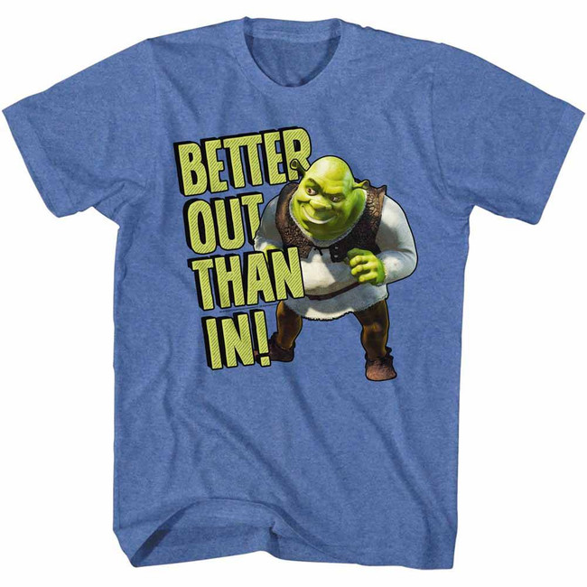 Shrek Better Out Royal Heather Adult T-Shirt