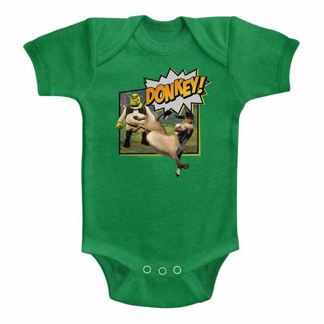 Shrek Donkey! Vintage Green Infant Baby Onesie