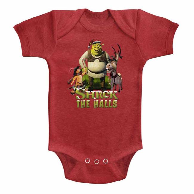 Shrek Holiday Group Vintage Red Infant Baby Onesie