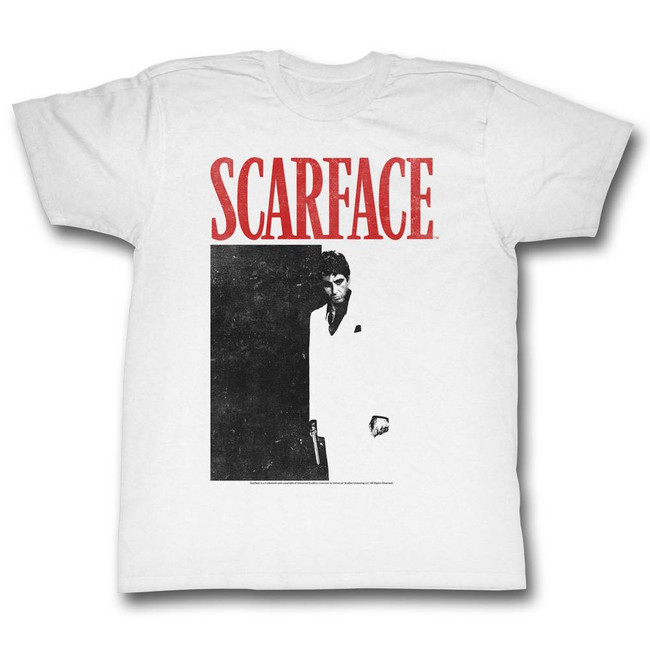 Scarface Black And Red White T-Shirt