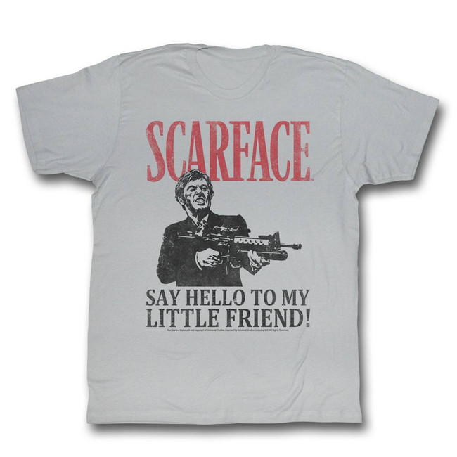 Scarface Say Hello Silver T-Shirt