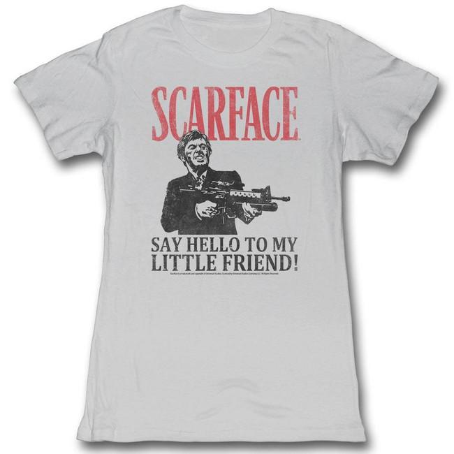 Scarface Say Hello Silver Junior Women's T-Shirt