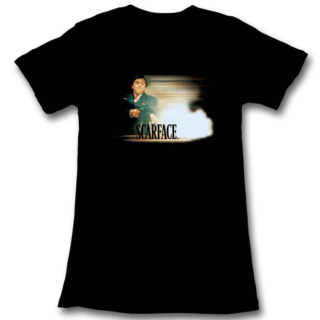Scarface Glowy Dude Black Junior Women's T-Shirt
