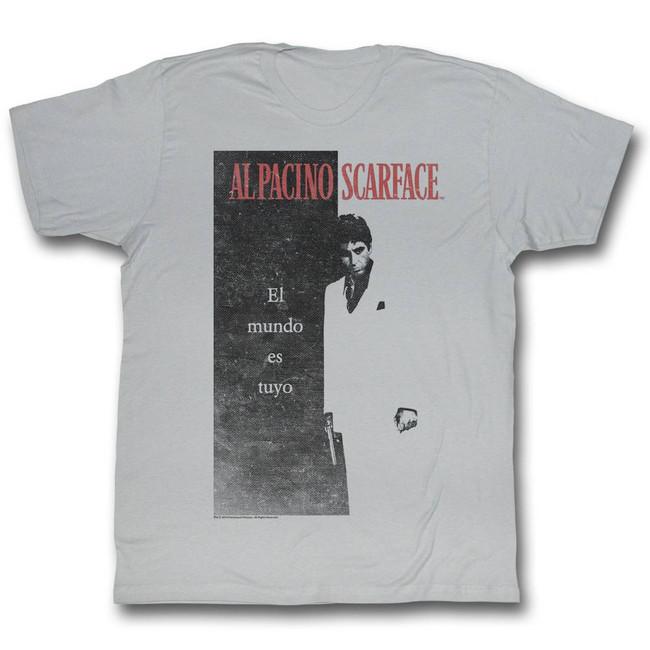 Scarface El Mundo Silver T-Shirt