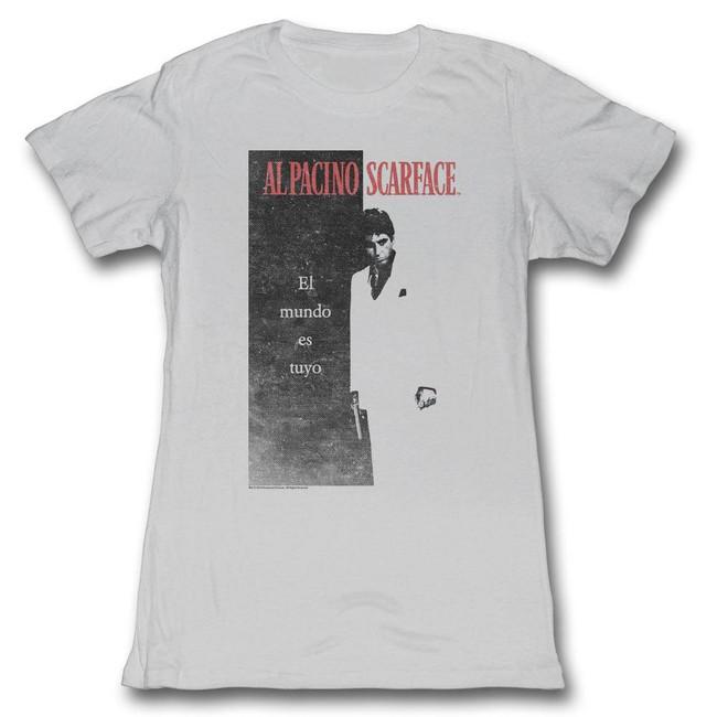 Scarface Elmundo Silver Junior Women's T-Shirt