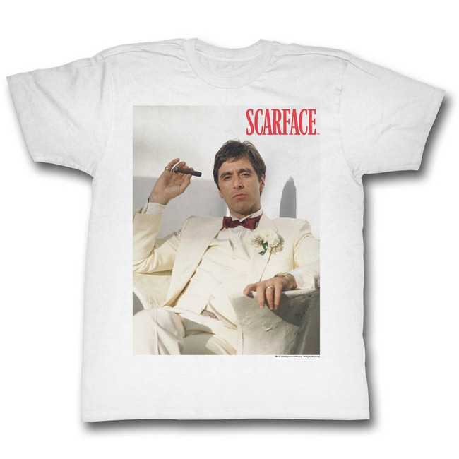 Scarface Chillin White T-Shirt