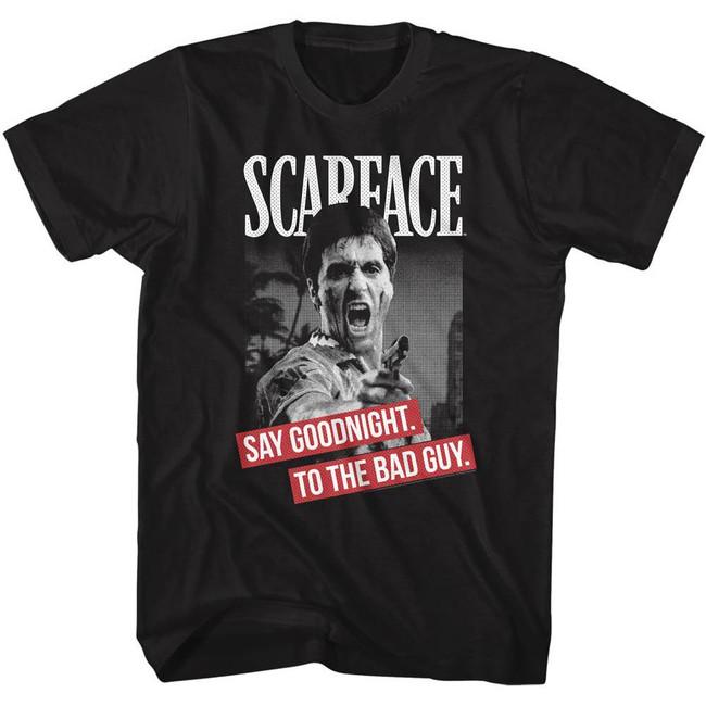 Scarface Say Goodnight Black T-Shirt