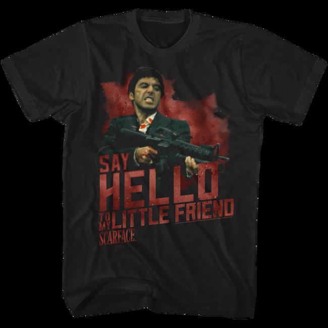 Scarface Say Hello Black T-Shirt