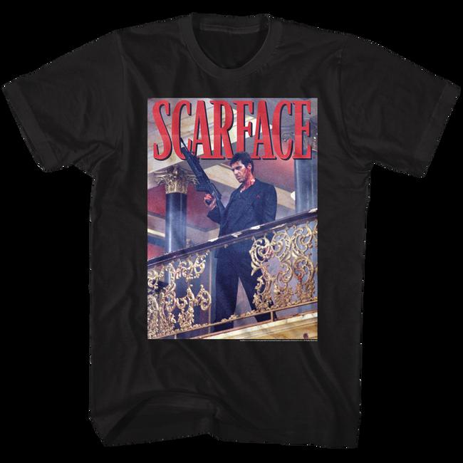 Scarface Railing Shot Black T-Shirt