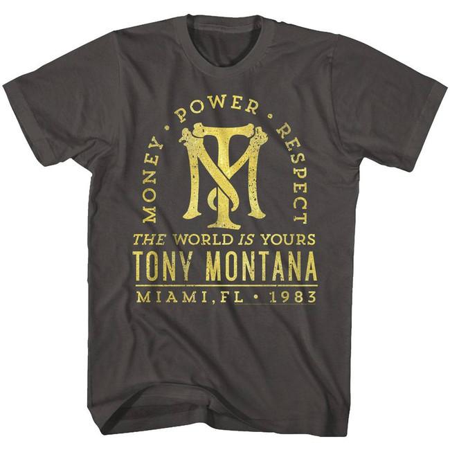 Scarface Gold Text Smoke T-Shirt