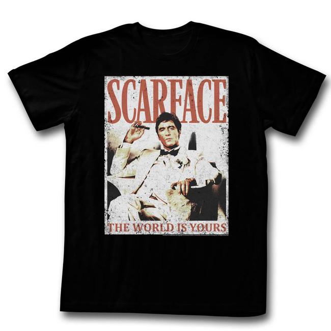 Scarface More Da World Black T-Shirt